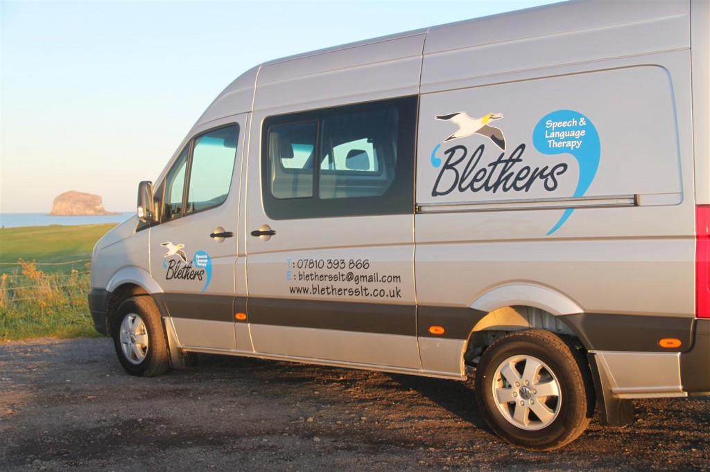 Blethers Mobile Therapy Room pictured on North Berwick seafront, East Lothian