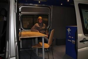Easy to work in the dark in the van
