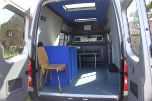 Easy to make the mobile therapy room safe to drive