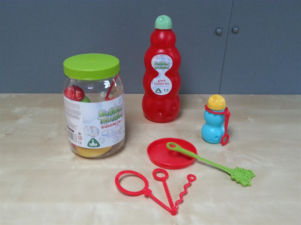 ELC's bubble jar and large/small bottles of mixture
