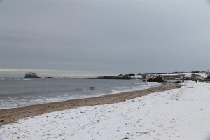 North Berwick beach in the snow!
