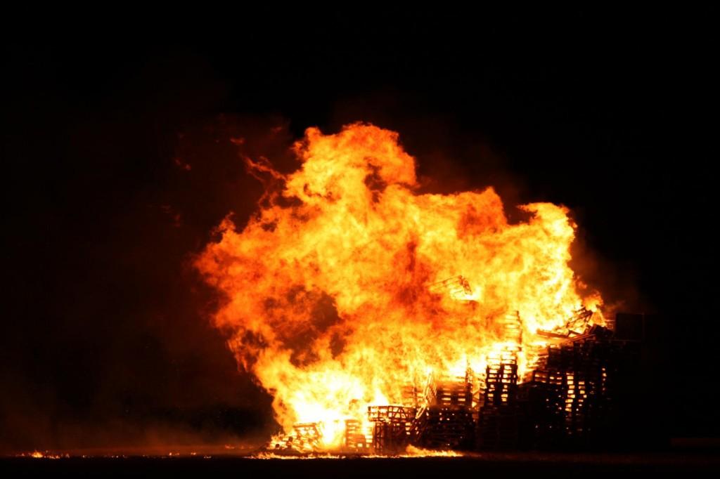 Aberlady bonfire