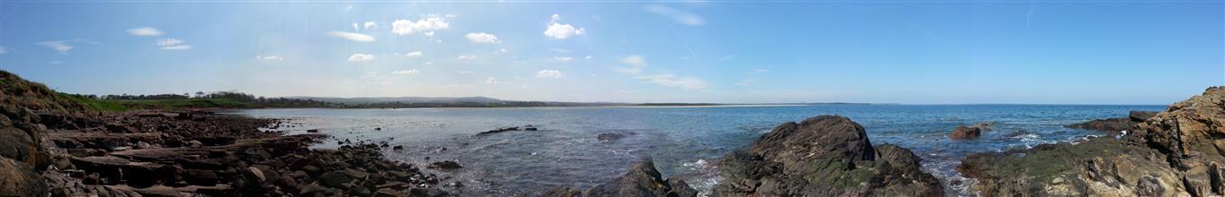 Panorama of Belhaven By, Dunbar looking North towards North Berwick